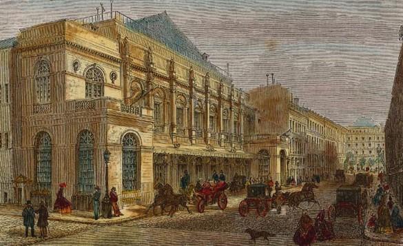 Das Théâtre Impérial de l'Opéra, die alte Paris Opéra (ca. 1865).