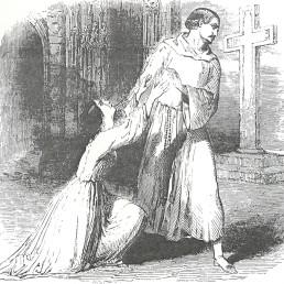 "Rosina Stoltz und der Tenor Gilbert in Donizettis Oper ""La Favorite""/Donizetti-Society"
