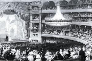 Saal des Théâtre Italien, ca 1840/HeiB