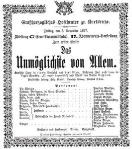 Theaterzettel der Uraufführung/PPP