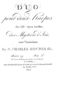 Wie populär die Oper war zeigen diese Variationen für Harfe über Themen daraus/Wiki