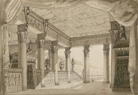 "Bühnenbild zu ""Les Mystères d´Isis""/Gallica"