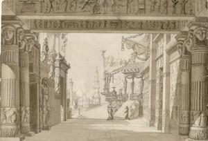 "Bühnenbild zu ""Le Mystères d´Isis""/Gallica"