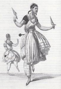 """Les Bayadères"": Tanzende Bajaderen, Paris 1815/Palazetto"