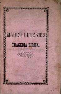 Libretto zu Marcos Botsaris/OBA