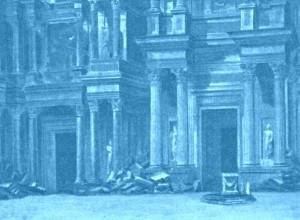 """""""Les Barbares"""": Bühnenbildentwurf zum 1. Akt/Foto Bibl. Historique Ville de Paris/Ediciones Singolares"""