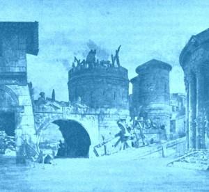 """""""Les Barbares"""": Bühnenbildentwurf zum 3. Akt/Foto Bibl. Historique Ville de Paris/Ediciones Singolares"""