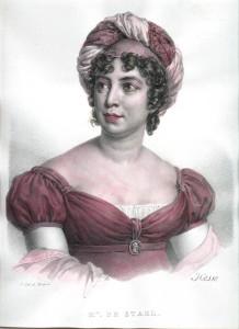 """Der gesellschaftliche Mittelpunkt ihrer Zeit und von Rossini in seinem """"Viaggio á Reims"""" verewigt: Madame de Stael/OBA"""