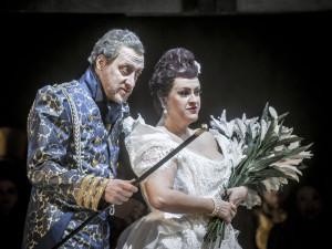 Marc Kugel (Cornaro, Manuels Vater), Susanna von der Burg (Ines, Manuels Braut)/© TLT/Larl