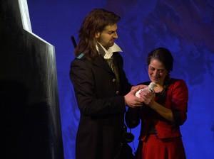 """Noch einmal Micvhael Kunze und Maria gessler in dem """"Nachtlager von Granada"""" in Freiberg 2003/Foto Müller/Mittelsächsisches Theater Freiberg"""