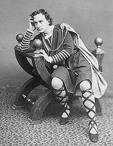Zeitgenössisches: Edwin Booth als Hamlet von Shakespeare 1870//Wiki