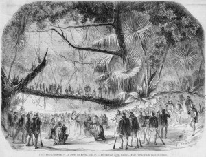 David: La Perle de Brésil, Bühnenbildentwurf für Akt 3 von Chéret 1831, Théâtre Lyrique/Gallica