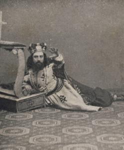 """""""Amleto"""": Antonio Cotogni als Il Re der Uraufführung/AB"""