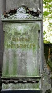 Meyerbeers Grab auf dem Jüdischen Friedhof an der Schönhauser Allee in Berlin/Foto Winter