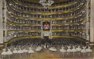 Das Teatro alla Scala zur Zeit Faccios/histroische Postkarte/OBA
