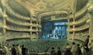 """Die Salle Pelletier, die damalige Opéra, bei einer Vorstellung von """"Robert le Diable""""/OBA"""