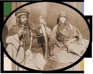 Beduinen, Foto um 1900/OBA