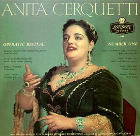 Das originale Cover der ersten und einzigen offiziellen Cerquetti-Decca-LP/OBA