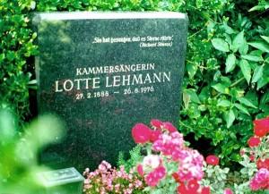 Lotte Lehmanns Grab auf dem Wiener Zentralfriedhof/Foto Purdy