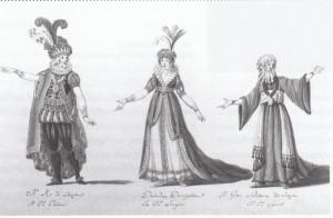 """""""Ginevra"""" - Figurinen für Turin 1802/ISMG"""