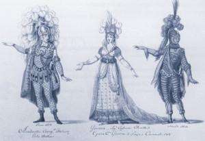 """Ginevra"": Kostumentwürfe Turin 1802/ISMG"