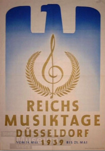 reichmusiktage düsseldorf 1939 poster