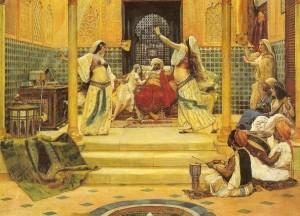 Im Harem des Sultans, Gemäde von Alma-Tadema/OBA