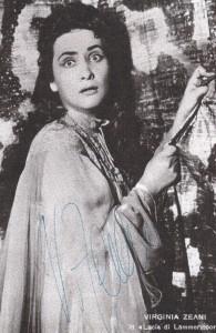 Virginia Zeani: Erfolgspartie Lucia di lammermoor/T