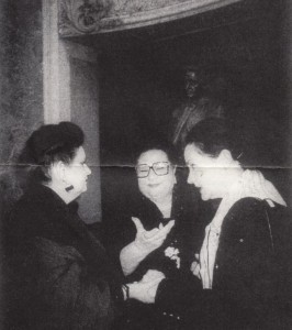 Virginia Zeani: Treffen mit berühmten rumänischen Kolleginnen (Mariana Niicolesco links und Eugenia Moldeveanu/rechts)/OBA