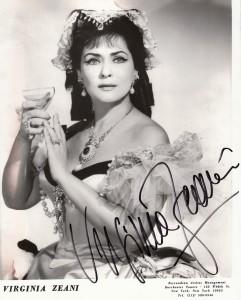 Virginia Zeani: Publicity shot als Violetta/Ferrandina