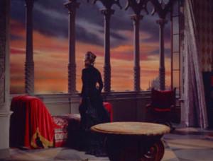 Melodramatisches Ende des Film: Cosima (Rita Gam) am Fenster des Palazzo Vendramin in Venedig, wo Wagner am 13. Februar 1883 starb