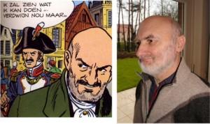 """Jan Neckers, historicus, columnist bij """" 't Palieterke """" en """"De Kerjeuze Mecheleir"""" als figurant in """"De laatste opstand"""""""