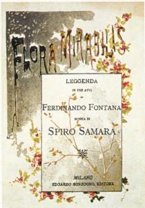 """Rhea"": Cover Klavierauszug ""Flora mirabilis""/Sonzogno"