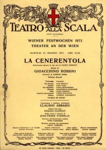 """Ugo Benelli: Die Scala bei den Wiener Festwochen 1973 mit """"La Cenerentola""""/Benelli"""