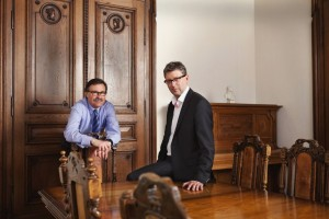 Internationale Bachakademie Stuttgart:  Gernot Rehrl (links) u. Hans-Christoph Rademann/  Foto Boris Schmalenberger