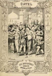 """""""Les Bayadéres"""": Frontespièce der Klavierreduktion/OBA"""