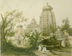 """""""Paria""""/Stanislaw Moniuszko/Indischer Tempel von James Ferguson ca. 1850/OBA"""