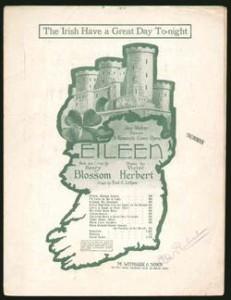 "Victor Herbert: Eileen"" - ""The irish have a great time today""/Deckblatt des Klavierauszugs/OBA"