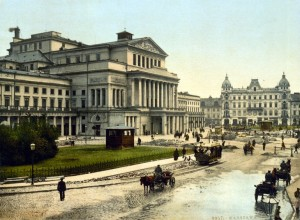 """""""Paria""""/Stanislaw Moniuszko/Das Theater Wielki in Warschau um 1900/OBA"""