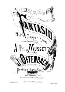 """""""Fantasio"""": Deckblatt des Klavierauszugs bei Choudens/OBA"""