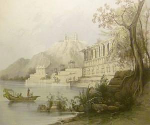 """""""Paria""""/Stanislaw Moniuszko/Indische Landschaft von James Ferguson um 1859/OBA"""