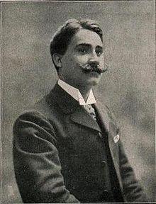 """Les Barbares"": Charles Rousseliere sang die Partie des Veileure in der Uaufführung/OBA"