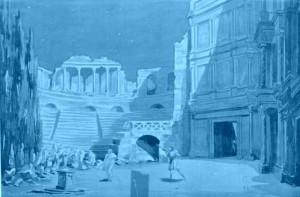 """""""Les Barbares"""" Bühnenbildentwurf für den 2. Akt/Pons/Ediciones Singolares"""