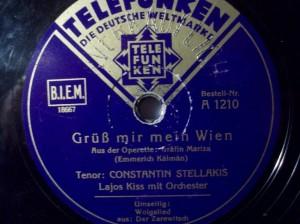 """""""Grüß´mir die Frau´n""""/Stellakis bei Telefunken/OBA"""