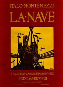 """La Nave"": Cover des Klavierauszugs von RicordiGrattacielo"