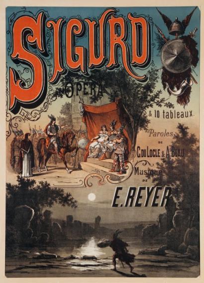 """""""Sigurd"""": Titelblatt des Klavierauzugs bei Druout/OBA"""