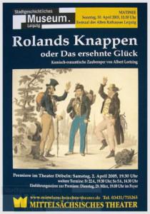 """Albert Lortzing: """"Rolands Knappen"""" am Theater Freiberg, Theaterprogramm"""