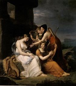 Méhul: Malvina beweint den Tod Oscars, Gemälde von Elisabeth Harvey/Grand Palais de Paris