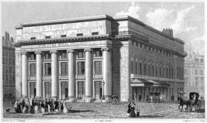 Méhul: Die Salle Favart, in der die Opéra-Comique ab 1783 zu Hause war/OBA