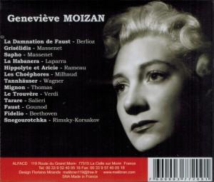 Geneviève Moizan beri Malibran Musique